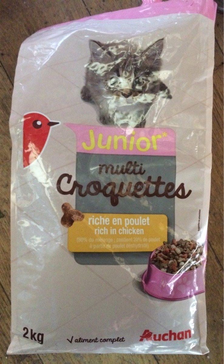 Auchan Croquettes Chaton Poulet / Carottes Et Lait - Product