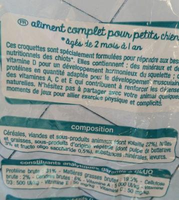 Junior croquettes riches en volaille - Ingredients - fr