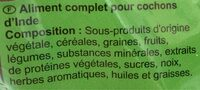 Repas Cochon d'Inde 800g - Ingredients - fr