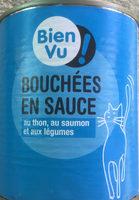 Bouchées en sauce au thon, au saumon et aux légumes - Produit