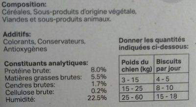 200G Boite Multi Bonbon Chien - Informations nutritionnelles