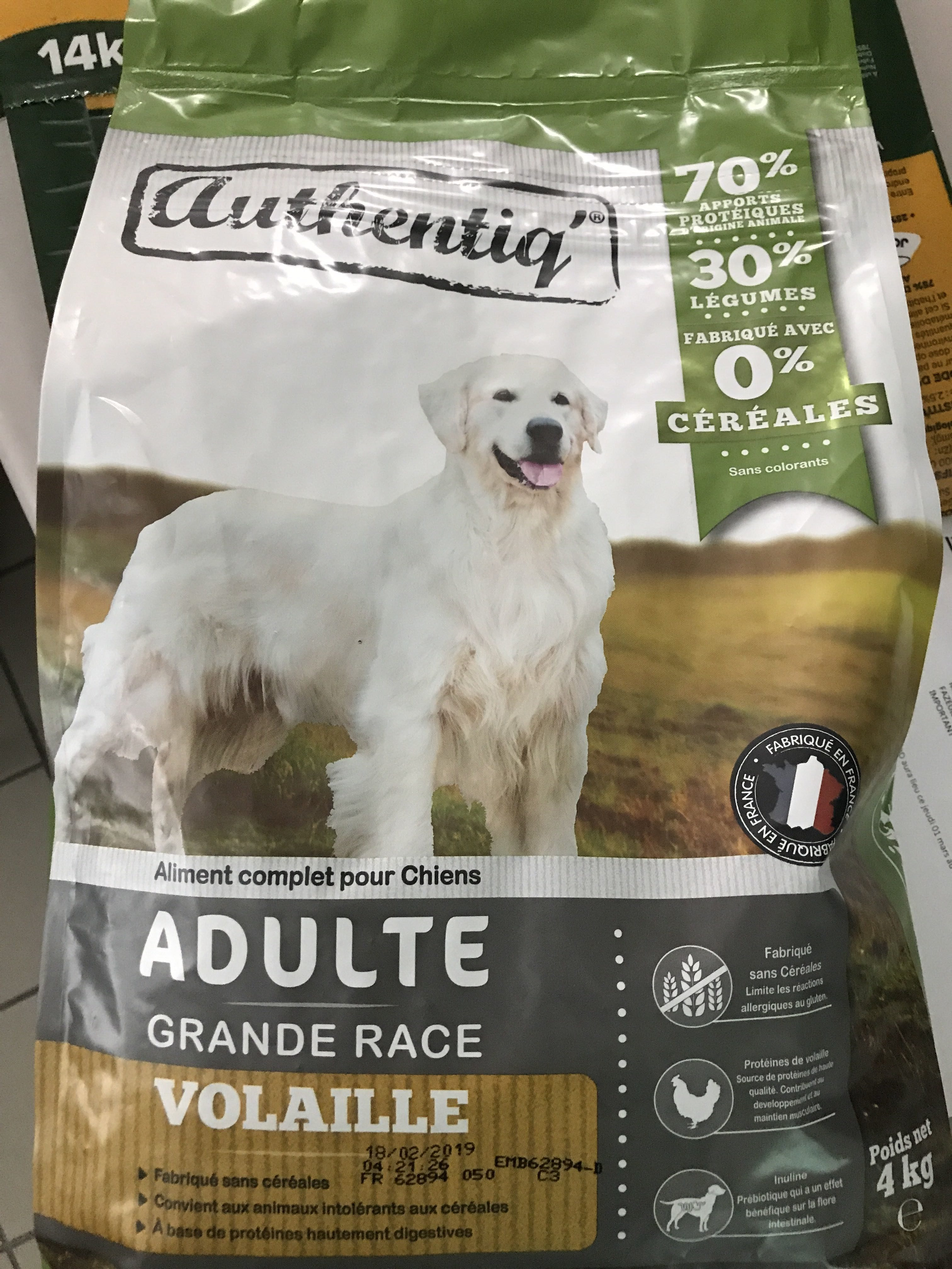 AUTHENTIQ' adulte grande race - Product - fr
