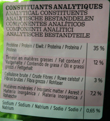 Ultima - Nutrition facts - fr