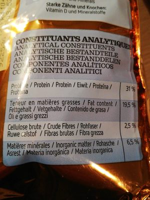 Croquettes junior - Nutrition facts - fr