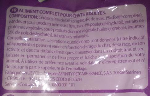 Croquettes pour chats stérilisés au Poulet - Ingredients