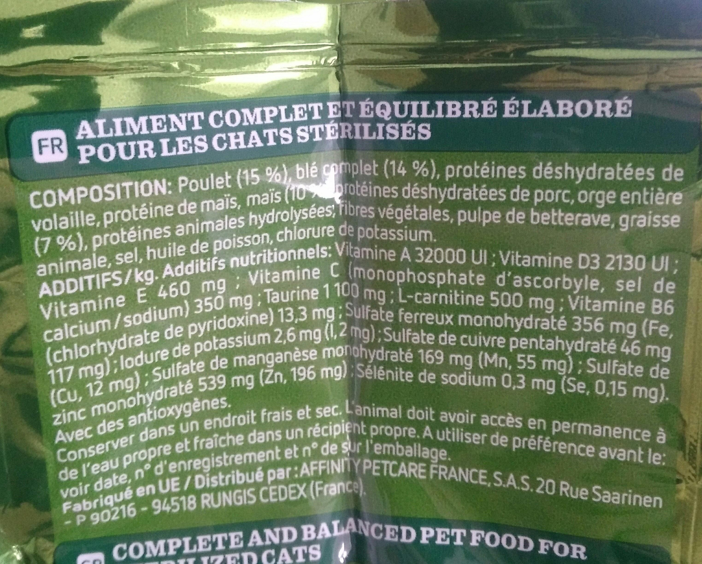 Croquettes poulet orge & céréales pour chats - Ingredients - fr