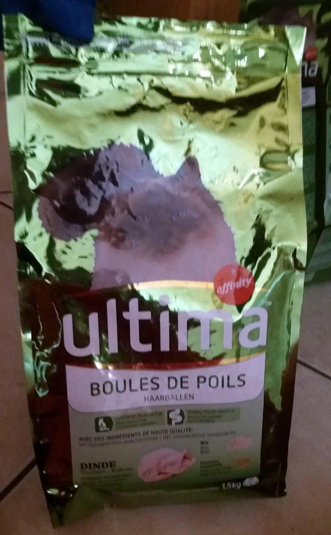 Ultima - Croquettes Boules De Poils à La Dinde Pour Chat - 1,5KG - Product