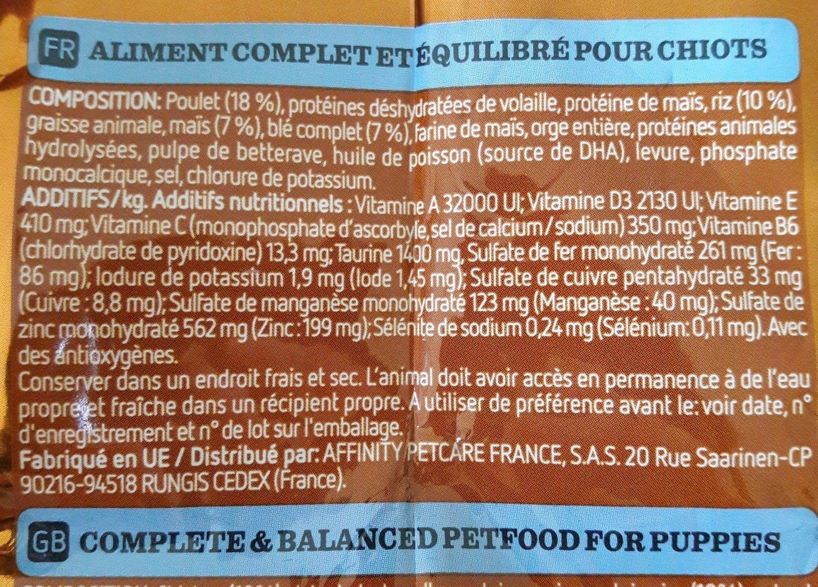 Ultima affinité medium maxi junior - Ingredients