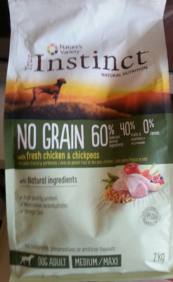 NO GRAIN CHICKEN & CHICKPEAS - Produit