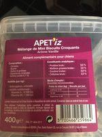 Biscuits pour chien - Nutrition facts - fr