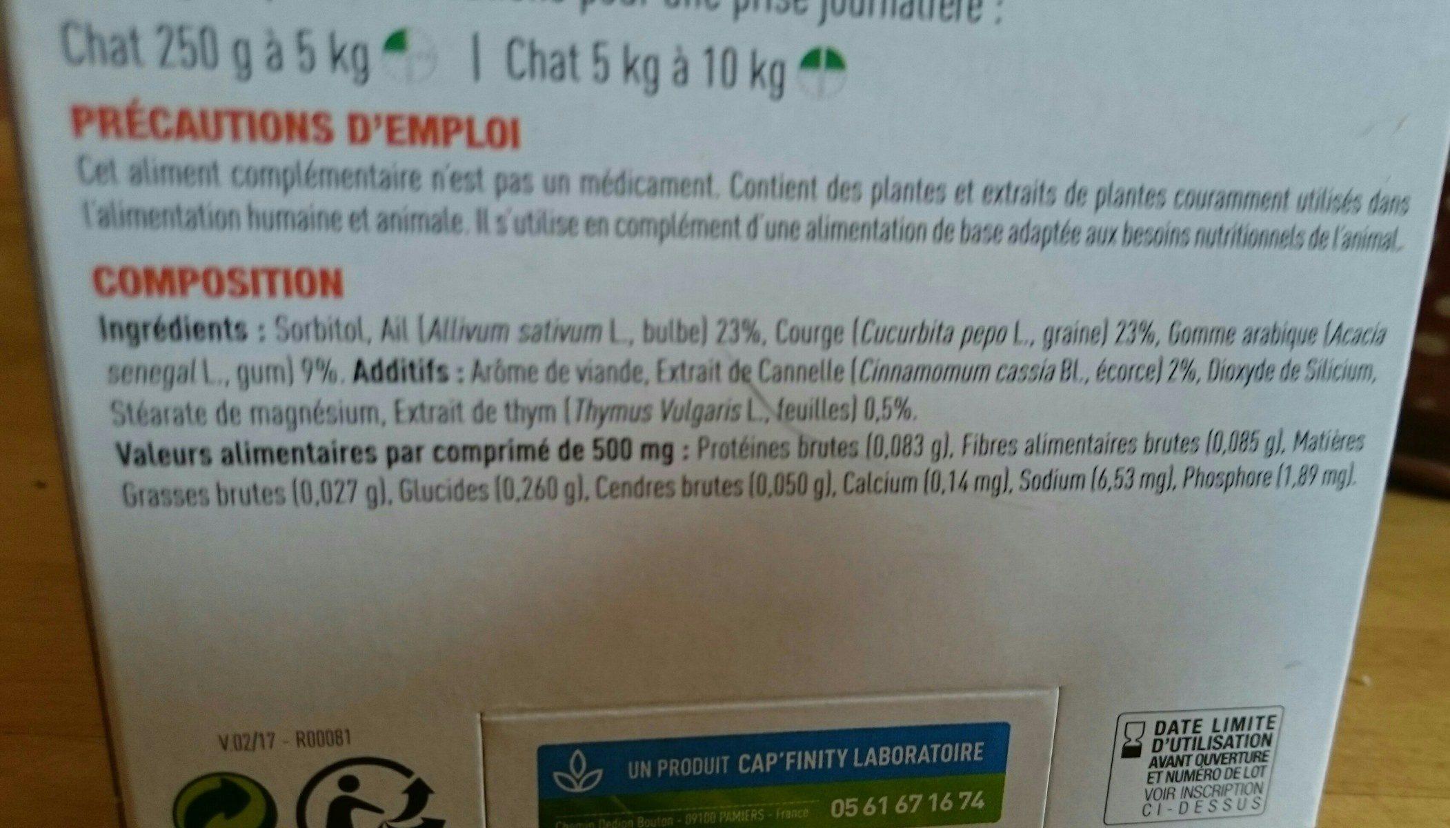 Bien-être intestinal chatons et chats - Ingredients - fr