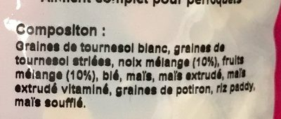 Mélange complet Haute Qualité Perroquets - Ingredients