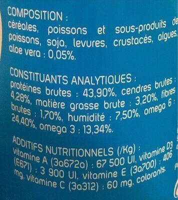 Nourriture pour poisson - Informations nutritionnelles - fr