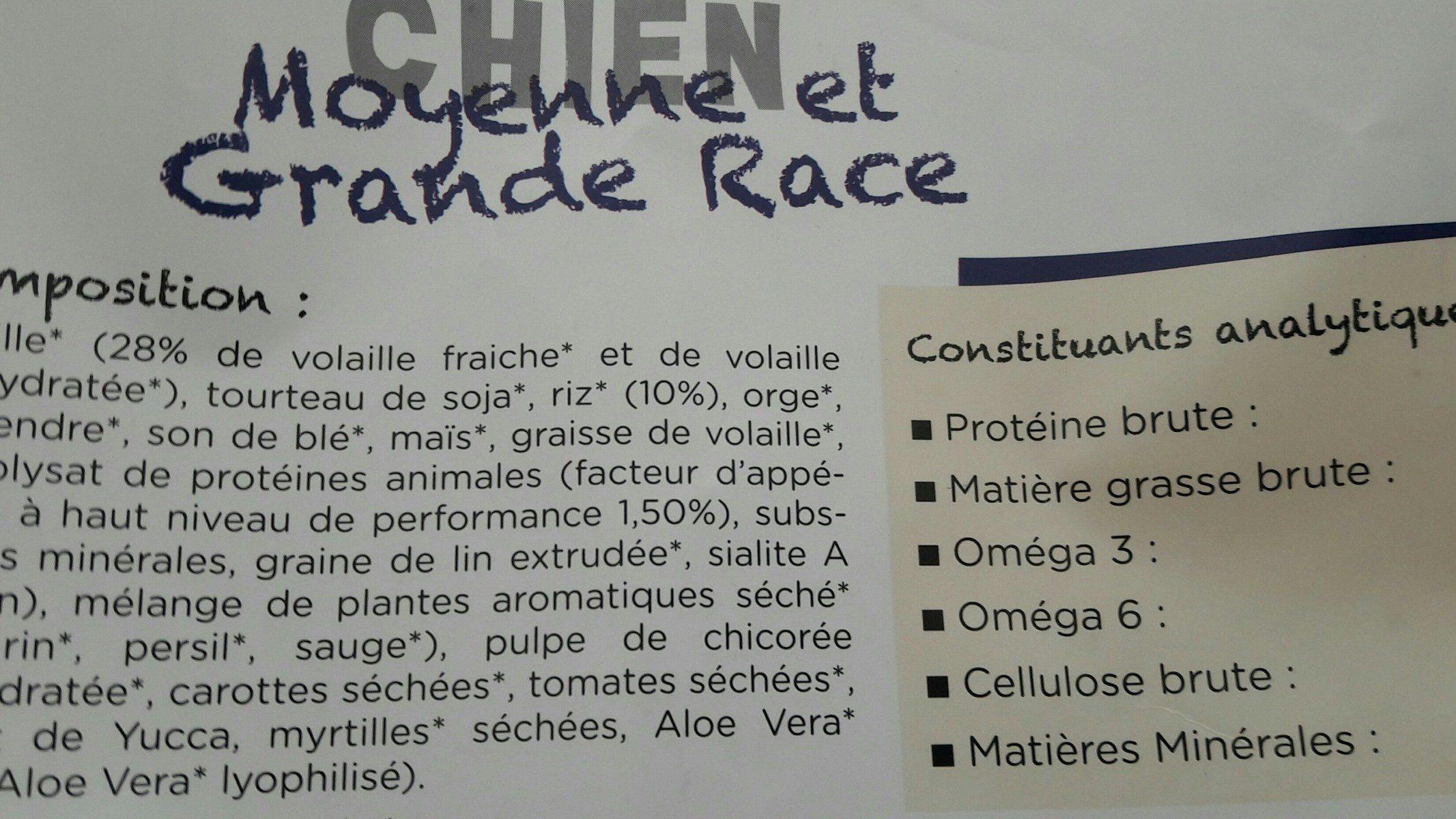 Croquettes Chien De Plus De 10KG 4KG (PM) - Ingrédients
