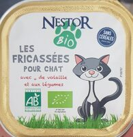 Fricassée Bio Pour Chat à La Volaille Et Aux Légumes - Product