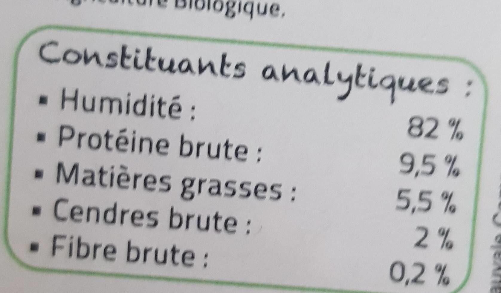 Fricassée Bio Pour Chat à La Volaille Et Aux Légumes - Nutrition facts