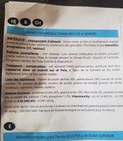 Croquettes pour chiens - Informations nutritionnelles - fr