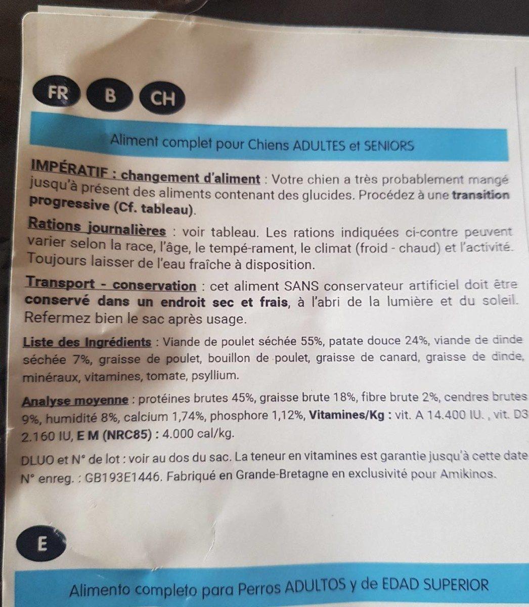 Croquettes pour chiens - Nutrition facts - fr