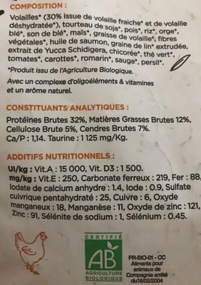Croquettes Volailles, Riz Pour Chat Stérilisé - Ingredients