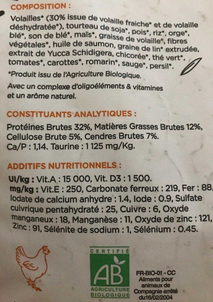 Croquettes Volailles, Riz Pour Chat Stérilisé - Ingredients - fr
