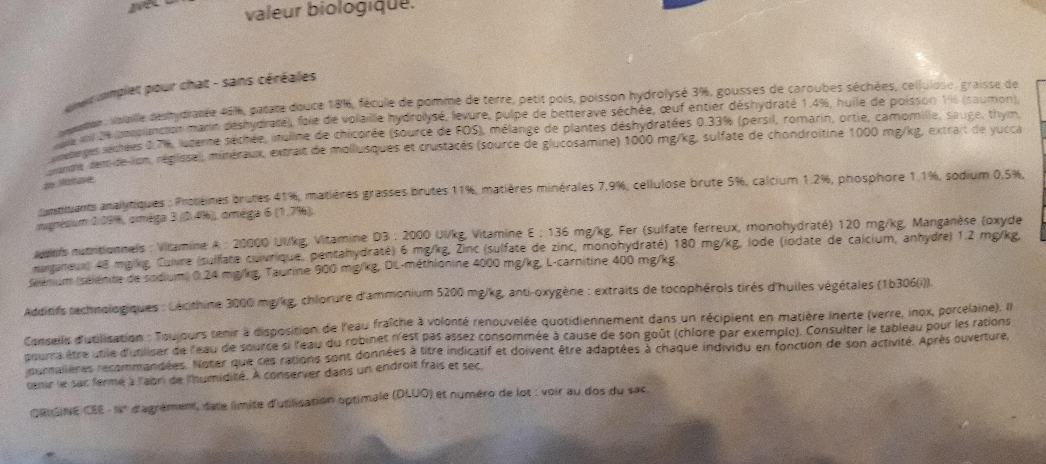 Adult sterilized cat grain free - Ingredients - fr