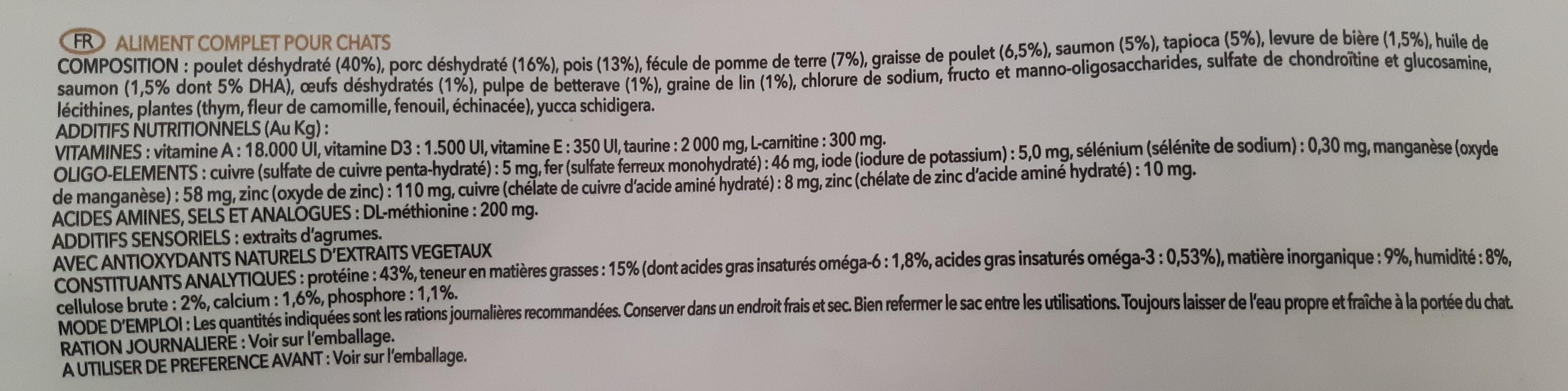 Ultra Premium Direct Chat Adulte Stérilisé - Chat d'intérieur - Ingrédients - fr