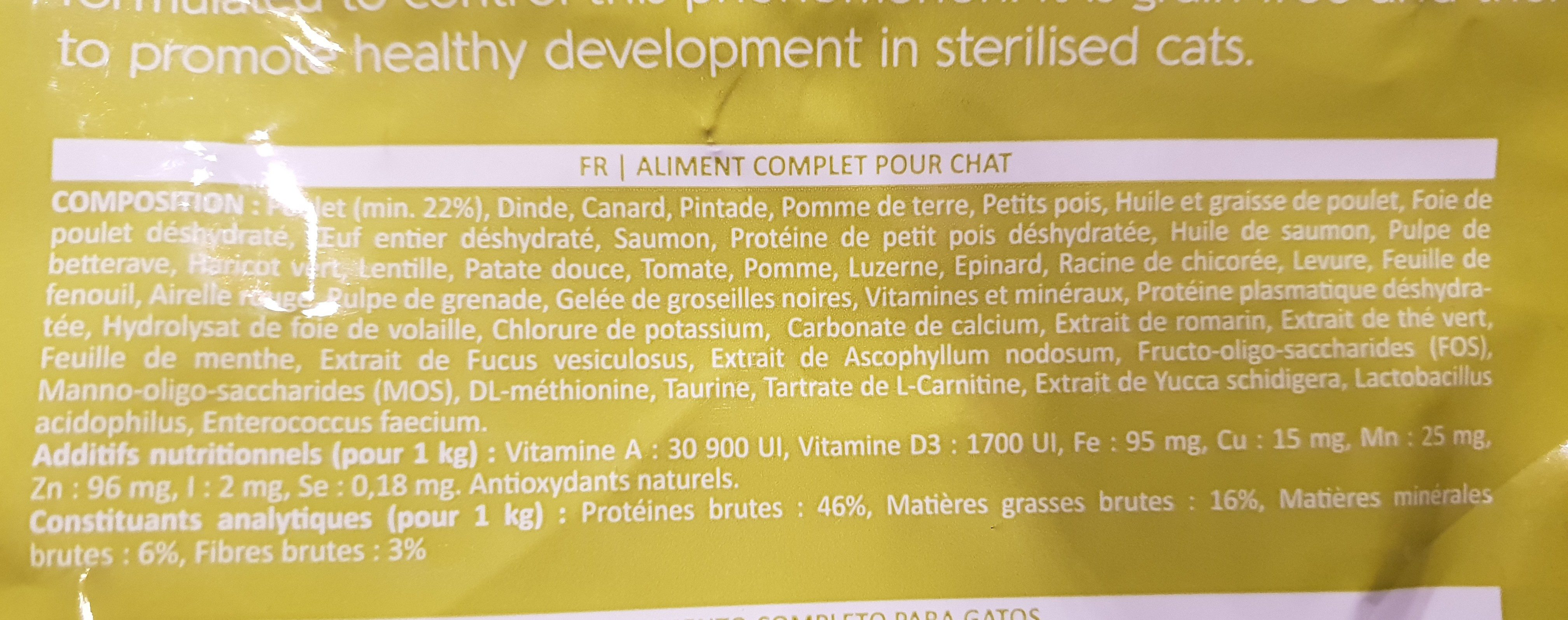 inne pet food - Nutrition facts - fr