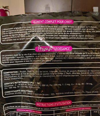 Croissance chiot - Ingredients