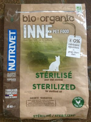 Bio organic pet food pour chat stérilisé - Product
