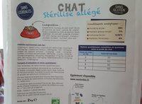 Croquettes bio Chat Stérilisé - Ingredients