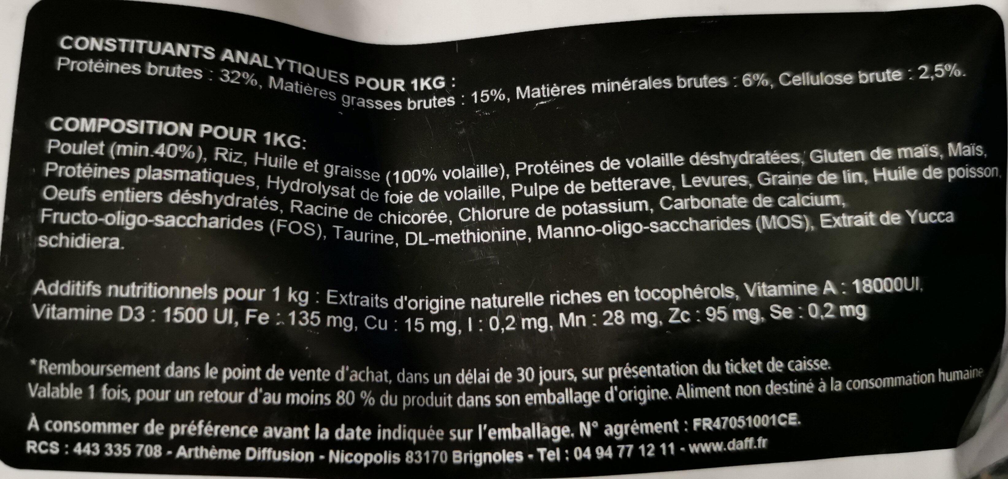 Optimale Adulte Expert - Ingredients - fr