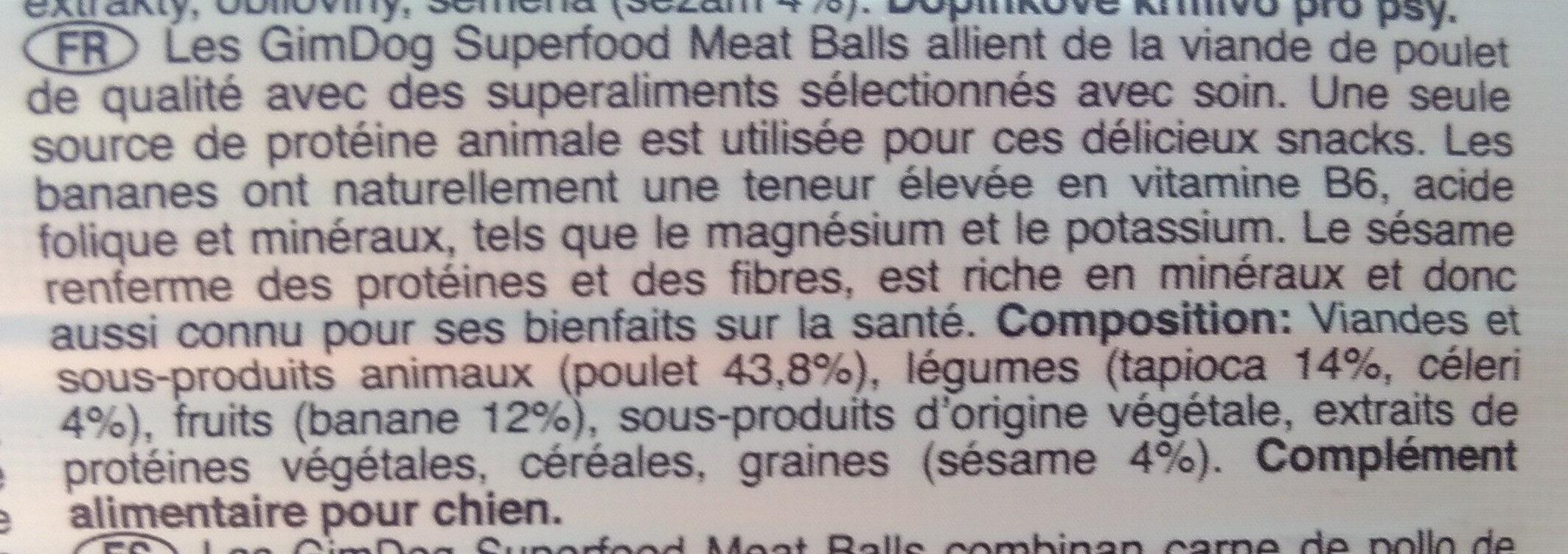 Superfood Meat Balls - Ingredients