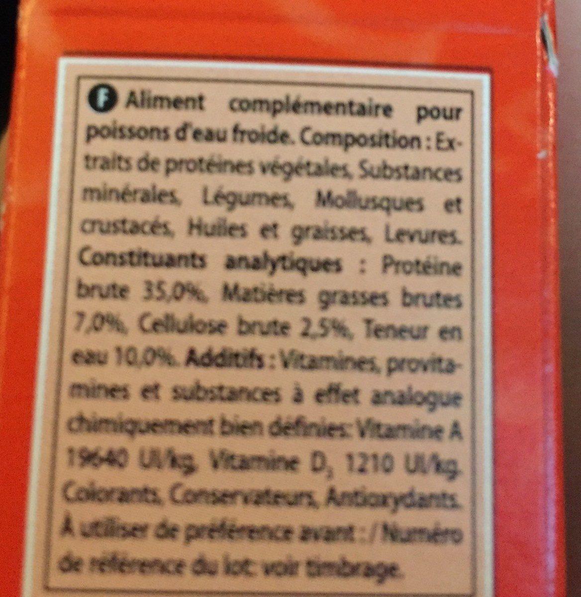 Goldfish week end - Ingredients