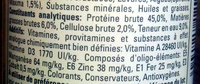 TetraWafe - Nutrition facts - fr