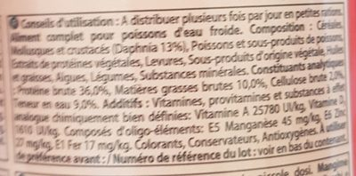 Tetra Goldfish Menu Mélange Premium - Ingredients