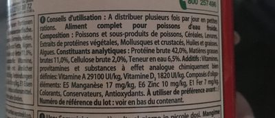 Tetra - Aliment Pour Poissons Rouges - Ingredients - fr