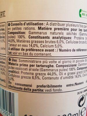 Tetra - Aliment Naturel Gammarus Pour Tortues D'eau - 1L - Ingredients