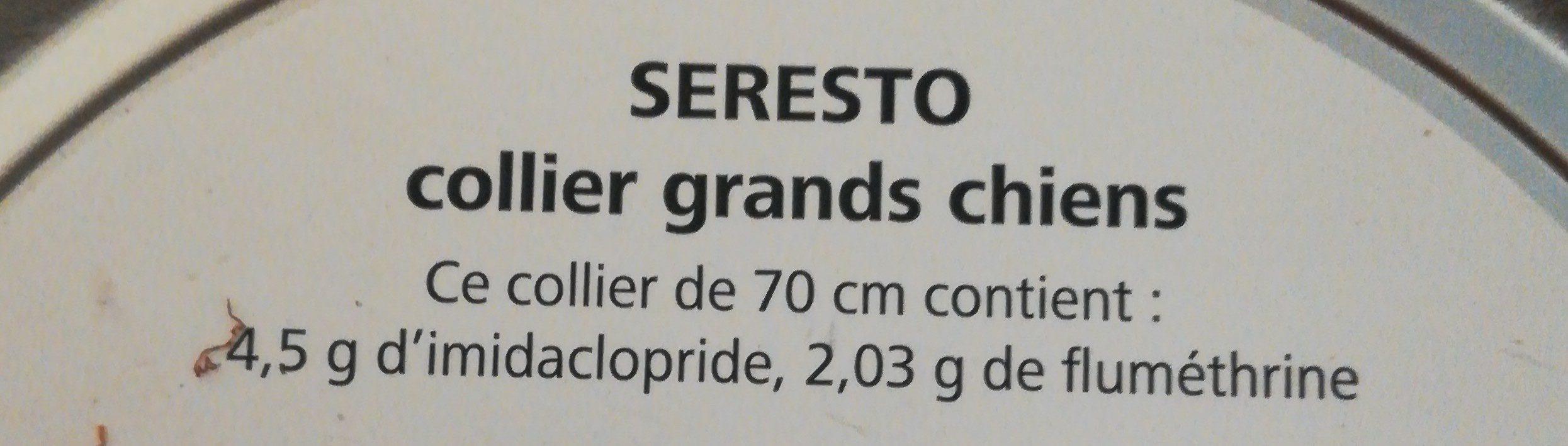 Bayer Seresto Collier 70CM Antiparasitaire Grand Chien - Ingredients