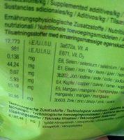 Menu vital lapins nains - Ingredients