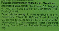 Jagdschmaus in Sauce - Nutrition facts