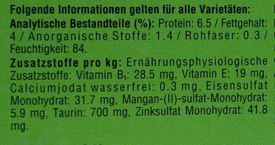 Bunte Vierfalt in Sauce - Nutrition facts