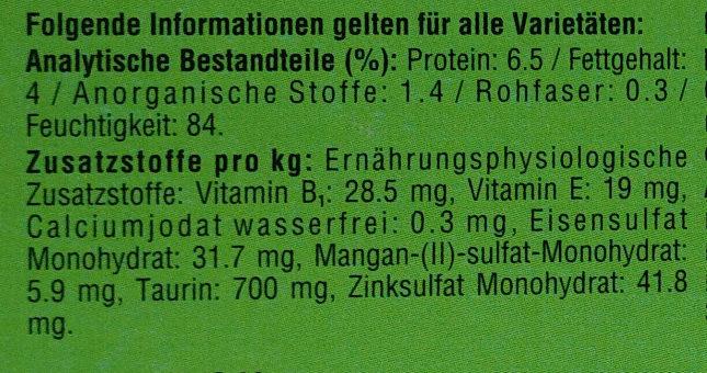 Bunte Vierfalt in Sauce - Nutrition facts - de