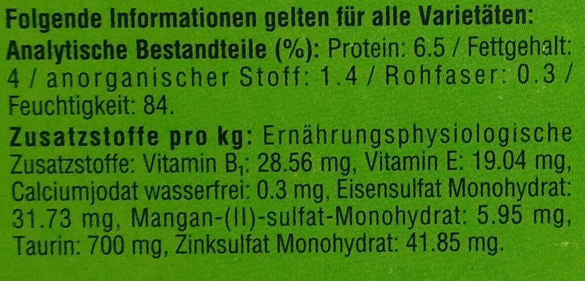 Landpicknick in Sauce - Nutrition facts - de