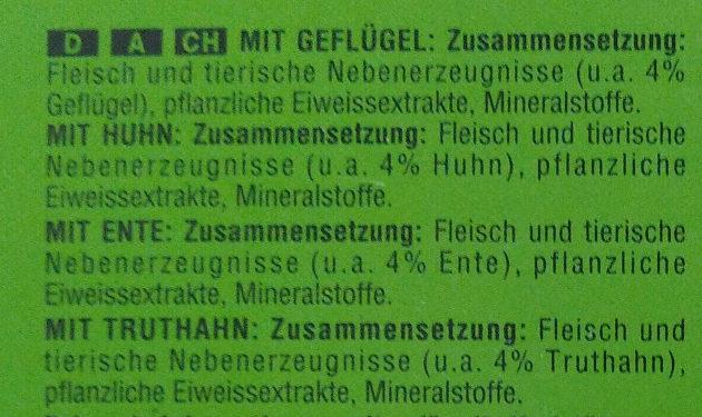 Geflügel-Allerlei in Gelee - Ingredients