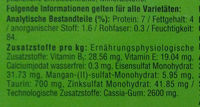 Geflügel-Allerlei in Gelee - Nutrition facts