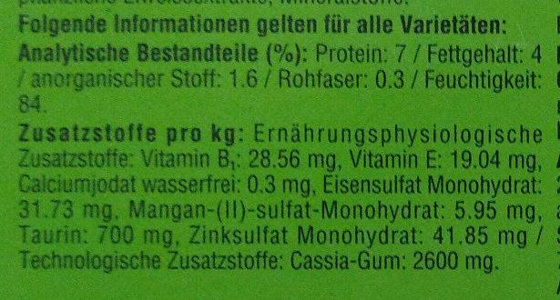 Geflügel-Allerlei in Gelee - Nutrition facts