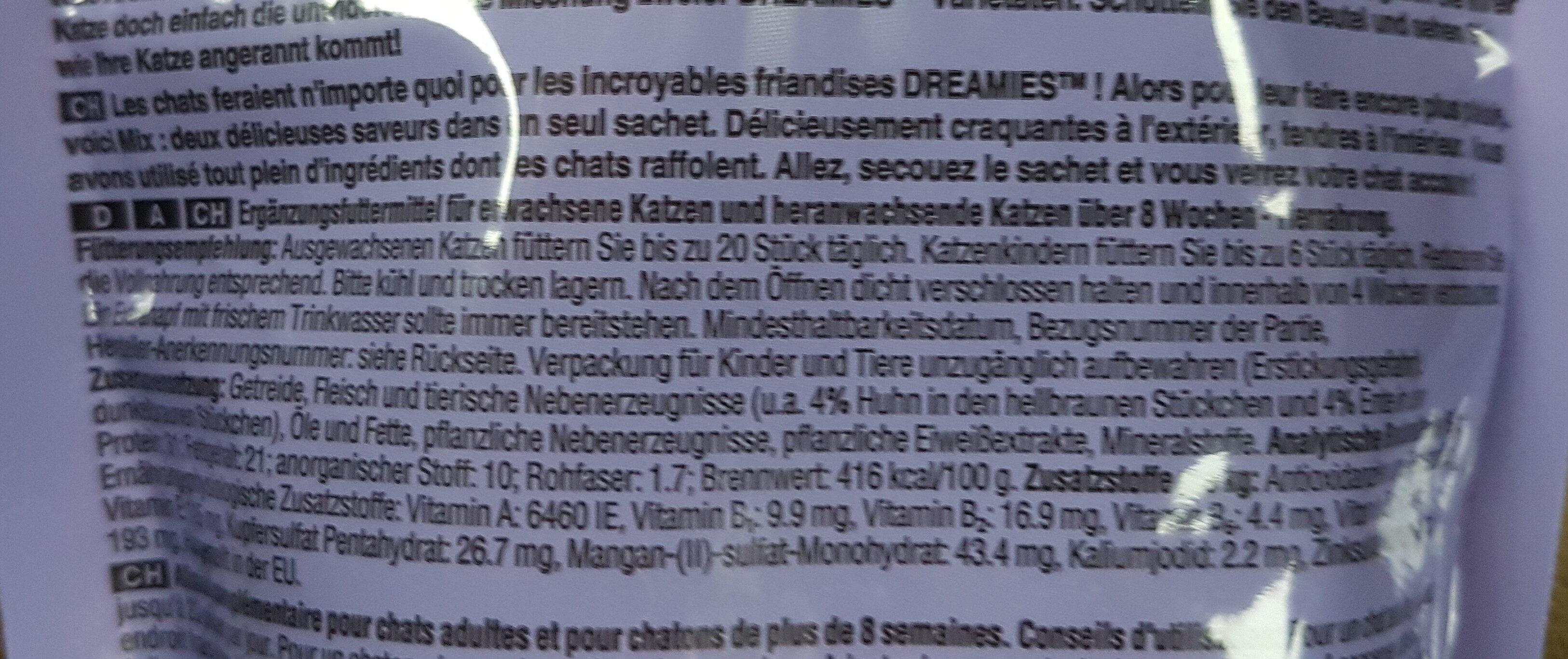 Dreamies Mix mit Huhn und Ente - Ingredients - de