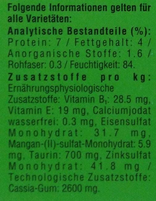 Meer & Land in Gelee - Nutrition facts - de