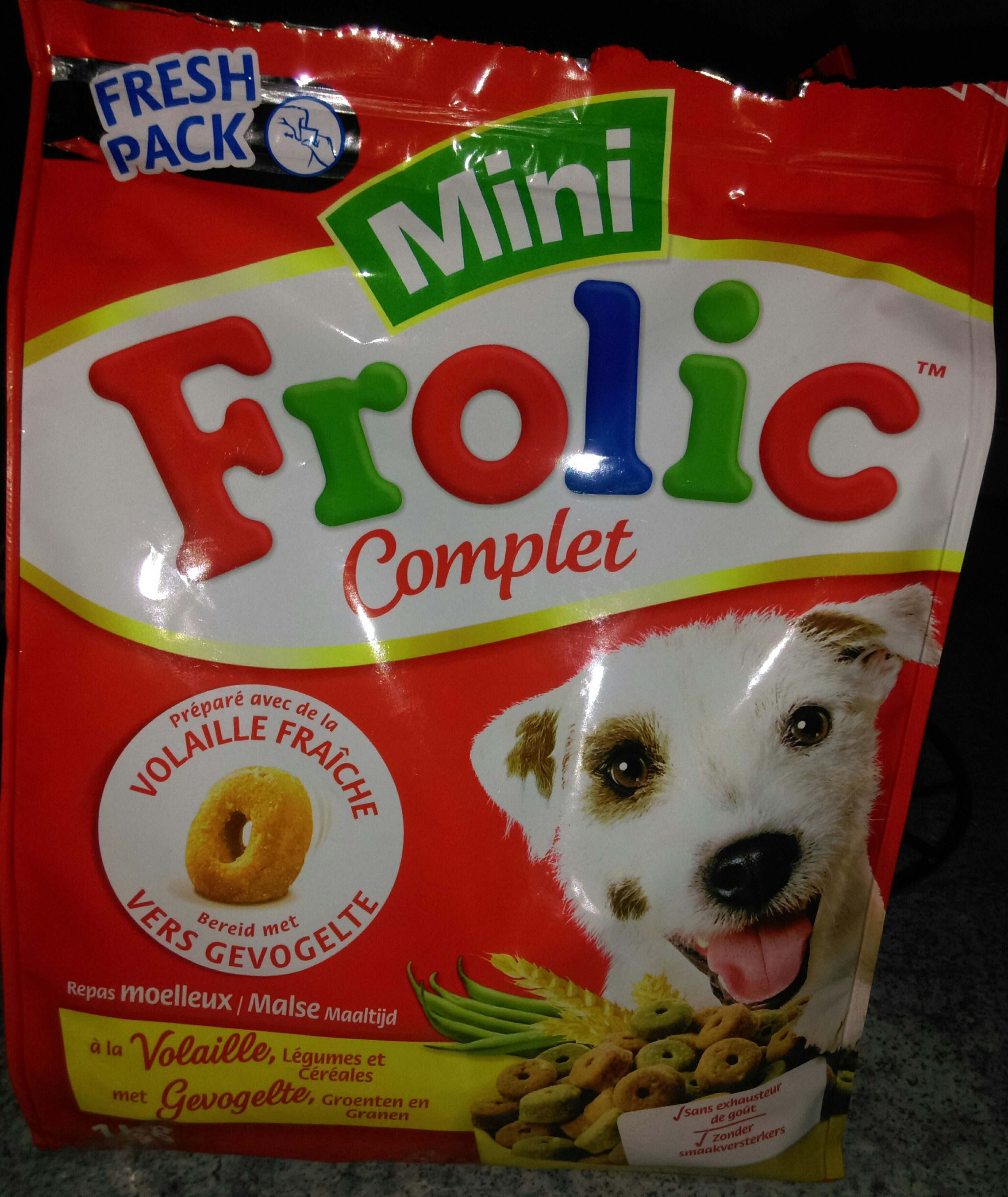 Frolic - Adult Mini Gevogelte 1 KG Gevogelte Adult - Product - fr