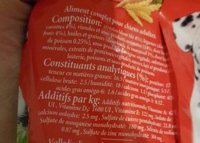 Frolic au boeuf aux carottes et aux cereales - Ingredients - fr